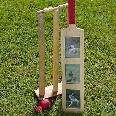 cricket bat photo frame by all things brighton beautiful