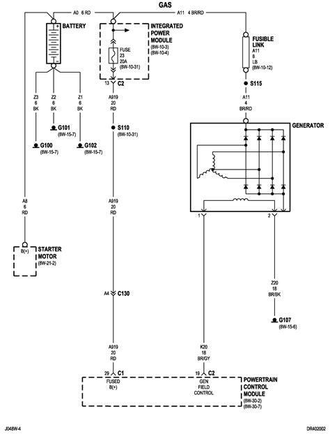 2010 dodge ram 1500 wiring diagram battery to alternator