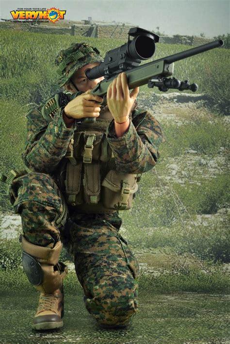 Hbj1467 16 Multicam Devgru Sniper Set 1 6 set usmc m40a3 sniper 3a16 toys soldier story threea toys