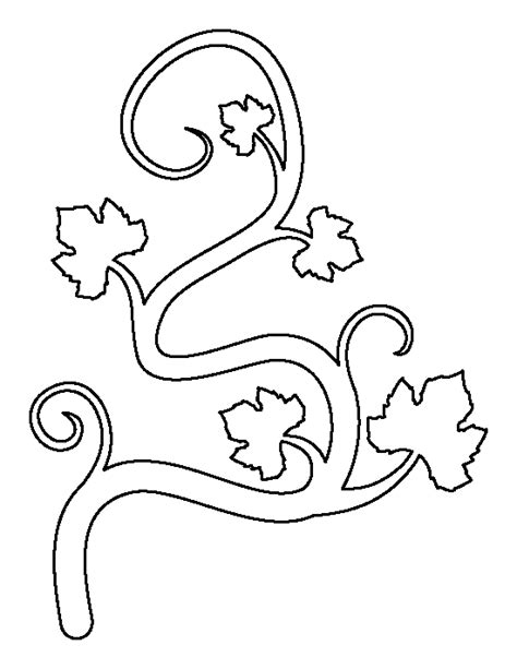 printable vine stencils pumpkin vine pattern use the printable outline for crafts