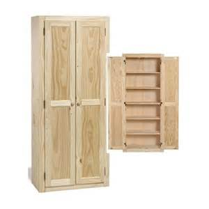 Wood Pantry Cabinet For Kitchen Solid Wood Large Unfinished Kitchen Pantry Cabinet