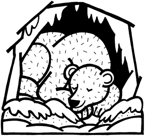 hibernation coloring pages for preschoolers coloring pages