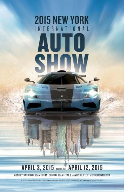 york auto show unveils  poster artwork