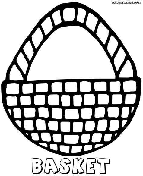 basket coloring pages coloring pages to download and print