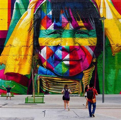 brazilian graffiti artist creates breathtaking mural