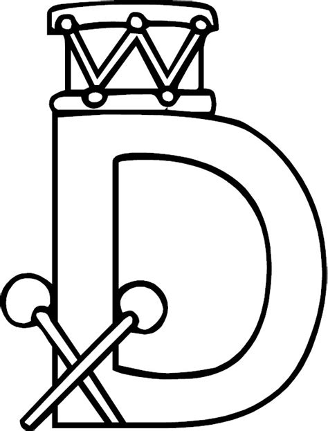 color d letter d alphabet coloring page