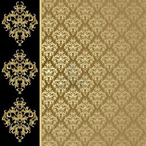wallpaper gold print black and gold background with abstract plant stock photo