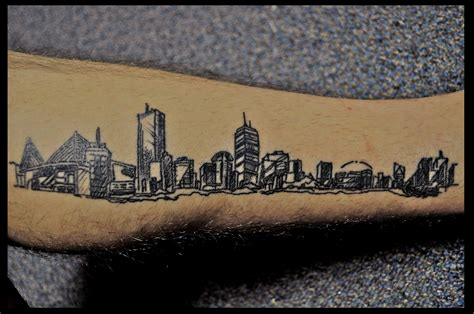 skyline tattoos pin boston skyline rate my ink pictures on