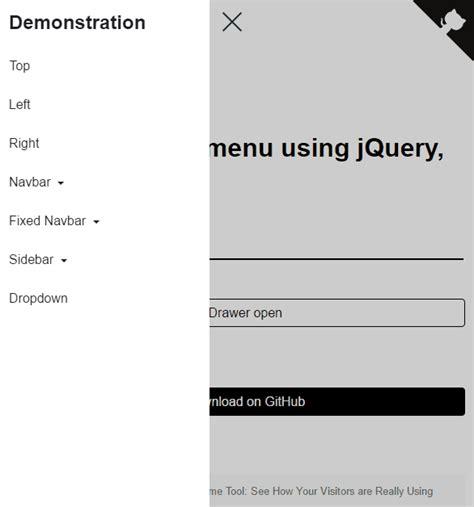 design menu using jquery top 10 best slide sidebar menu drawer javascript and