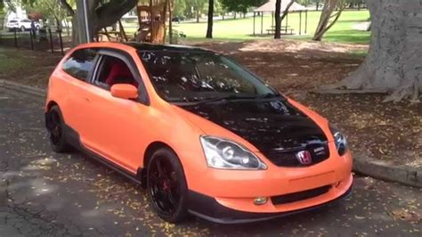 honda civic type r orange mad orange wrap ep3 type r civic 2004 2005 for sale