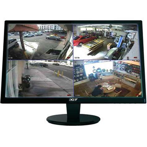 Monitor Cctv complete cctv system 4ch dvr 500gb 4 white outside