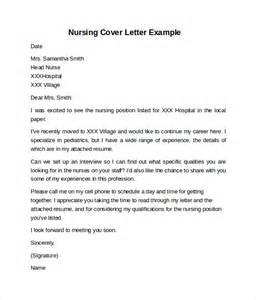 Free Downloadable Cover Letters by Nursing Cover Letter Exle 10 Free Documents In Pdf Word