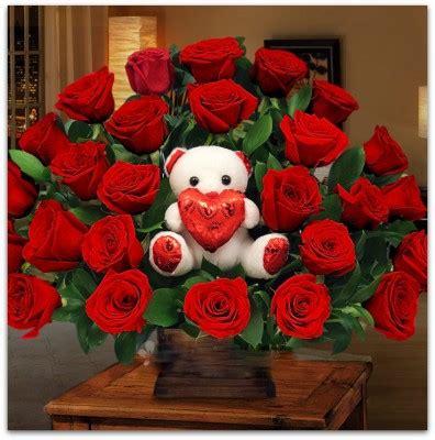 imagenes de rosas con osos imagenes de rosas con peluches lindos imagenes de