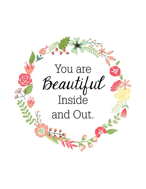 how to your to and outside oh so lovely you are beautiful inside out free printable