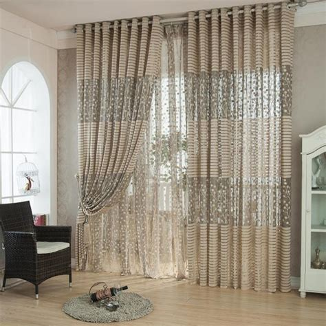 Home Style Curtains Decor Modern Striped Voile Curtains Design Decoration Curtains Window Transparent Tulle Curtains For