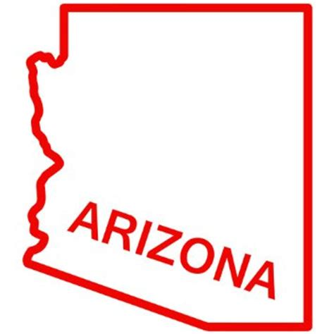 arizona state outline decal clipart best