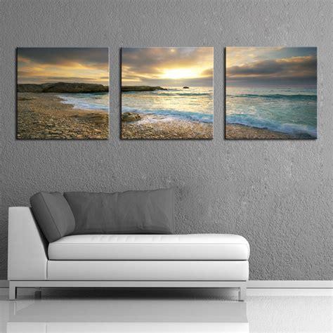 framed home decor canvas hd print seascape beach wall