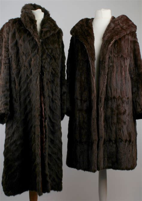 Pashmina Dan Pashmina Instan Italiano Soft Brown two vintage fur coats probably brown soft moleskin one with shawl style collar and