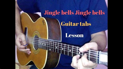 how to play jingle bells fingerstyle guitar tutorial jingle bells guitar tabs lead lesson cover tutorial