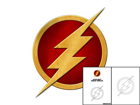 flash logo templates template for flash chest emblem the foam cave