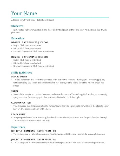 Resume Color How To Make A Cv Template On Microsoft Word