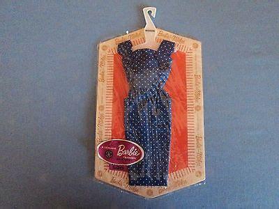 vintage barbie pak blue polka dot sheath mip moc nfrb nrfc