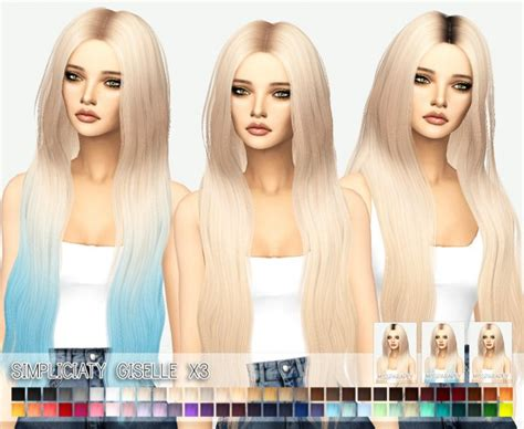 simplicity hair cc sims 4 miss paraply simplicity s giselle hairstyle retextured