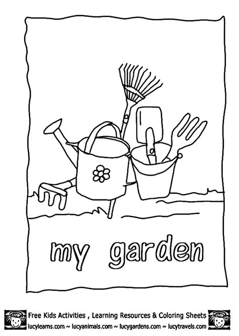 free coloring pages garden gardening coloring pages