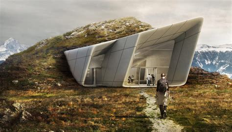 zaha hadid designs messner mountain museum  plan de