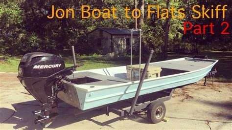 jon boat to flats skiff 2 youtube - Jon Boat To Flats Boat
