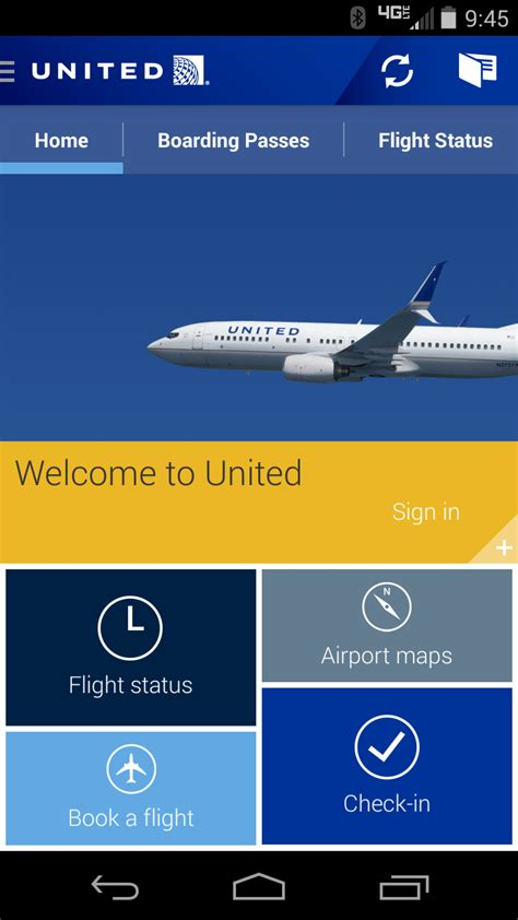 united airlines mobile app the best mobile app awards