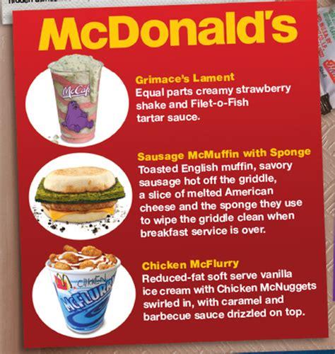 secret menu mad s humorously take on fast food secret menu items