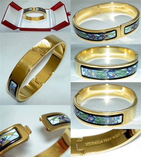 Authentic MICHAELA FREY Hommage à Claude Monet Iris 24K Enamel Ballerina Bangle   eBay