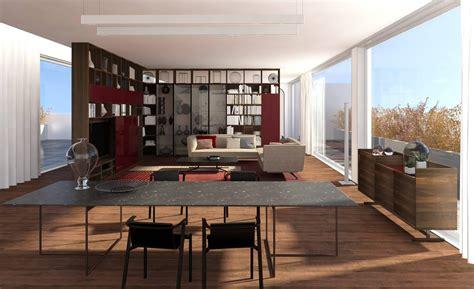 progetti soggiorno dividere il soggiorno e la con mobili a tutta