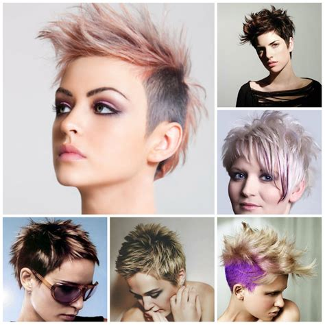 short hair style female 2016 with regard to invigorate spiky hairstyles for women 2017 haircolor and styles