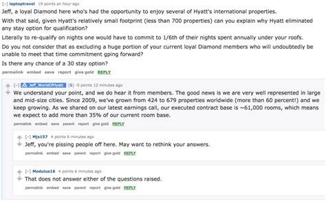 Or Question Reddit What Questions Would You Ask Hyatt S Svp Of Loyalty Points With A Crew