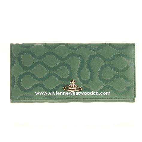 Vivienne Westwood Empire Purse by Vivienne Westwood Squiggle 1032 Green Purse Wallet With