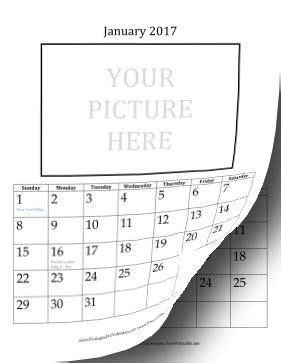 printable picture calendar