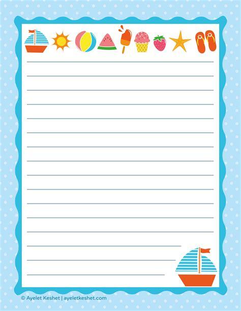 printable letter paper ayelet keshet