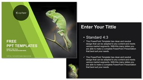 plant layout ppt free download chameleon sitting on green plant nature ppt templates