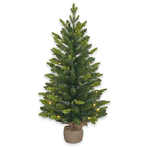 3 foot pre lit mini artificial christmas tree bed bath