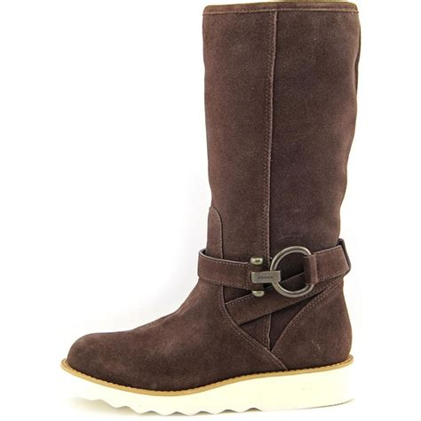 coach virtue suede brown knee high boot boots