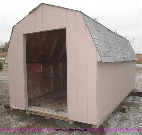 Skid Shed by Wood Shed On Skids No Reserve Auction On Thursday