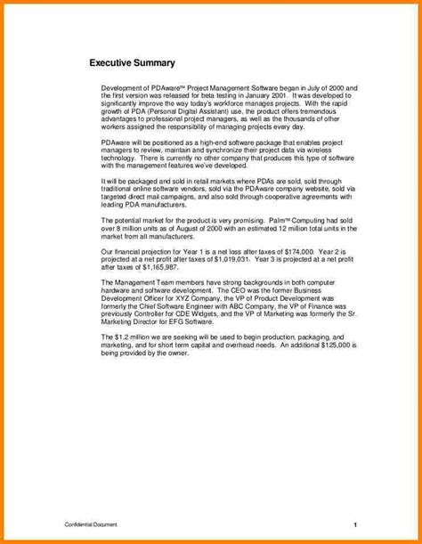 project executive summary template 9 management summary sle inventory count sheet