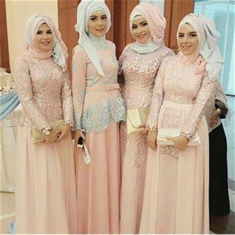 Baju Muslim Gamis Bigsize Hitam Abaya Modern model kebaya seragam trend 2018 untuk pernikahan acara