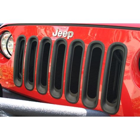 rugged ridge australia rugged ridge grille inserts black 07 16 jeep wrangler jk aftermarket jeep parts australia