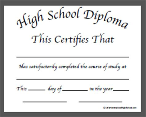 50 Free High School Diploma Template Printable Certificates Free High School Diploma Templates