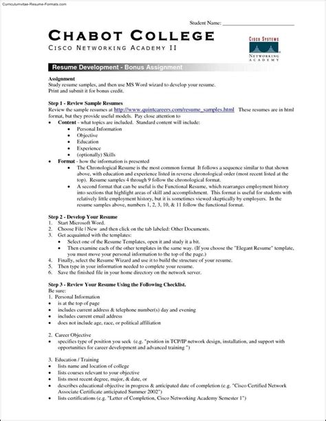 free resume templates for college students free sles exles format resume