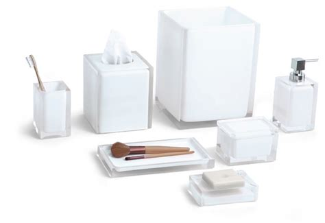 Paradigm Trends Cubix 7 Piece Bath Accessory Set Modern Bathroom Accessory Sets