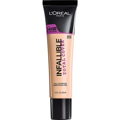 L Oreal Infallible l oreal infallible total cover foundation l oreal infallible total cover concealing and